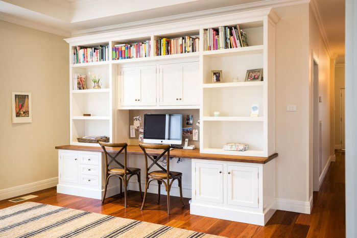 classic home office armoire desk for two user