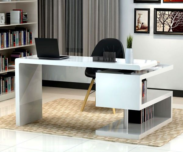 the interior with contemporary home office furniture collections
