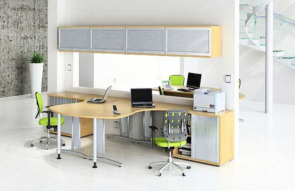 Double desk home office increasing exclusiveness for Home office workstation desk