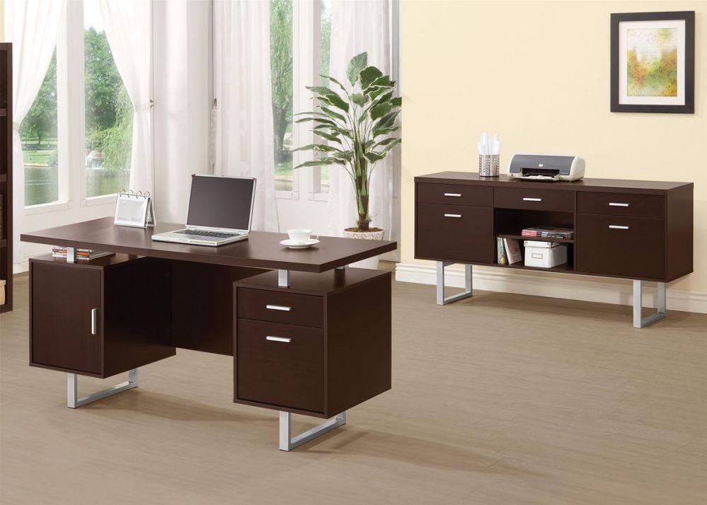 glavan double pedestal office desk with metal sled