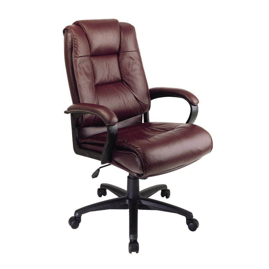 high back executive burgundy leather office chair