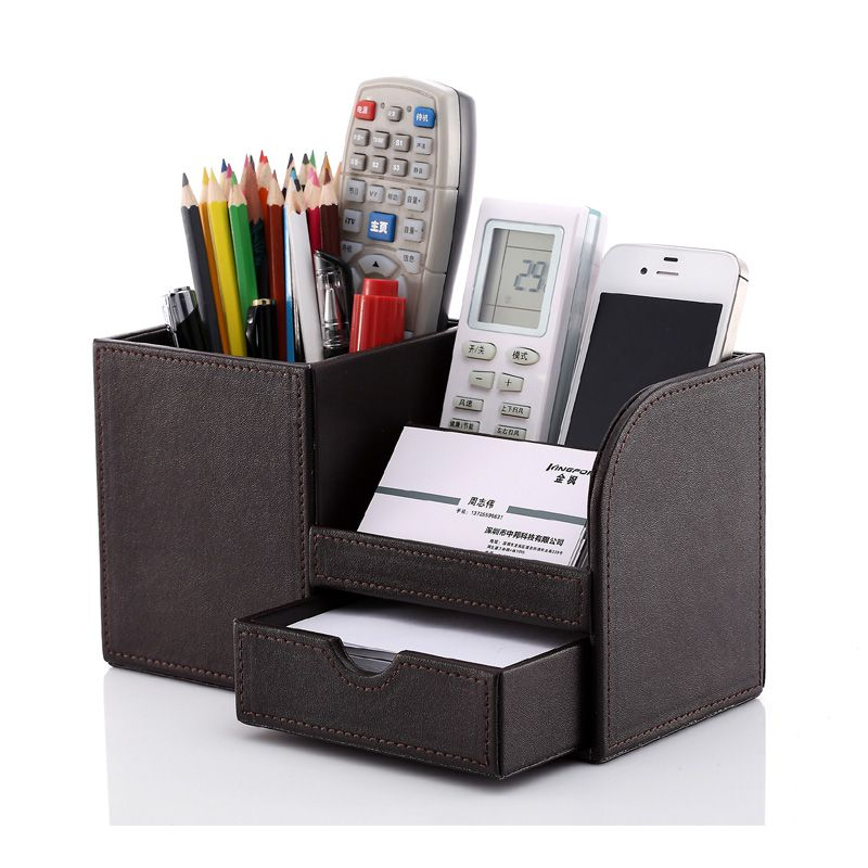 Pen and pencil holder for desk office furniture - Desk stationery organiser ...