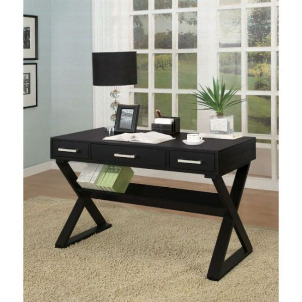 roll top contemporary black computer desk