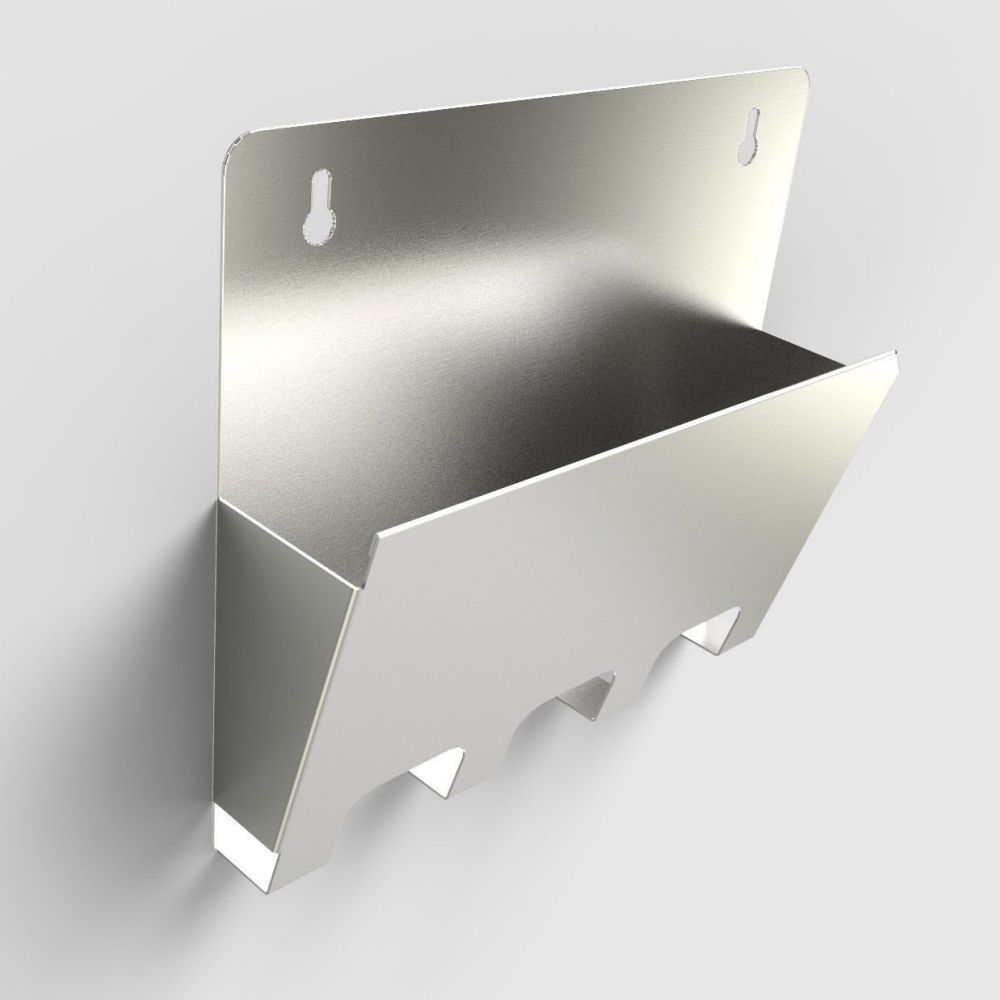 wall mounted document holder metal