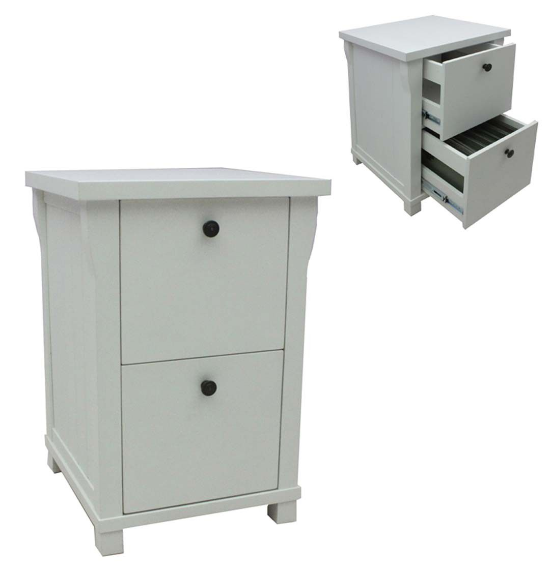 white 2 drawer foolscap filing cabinets