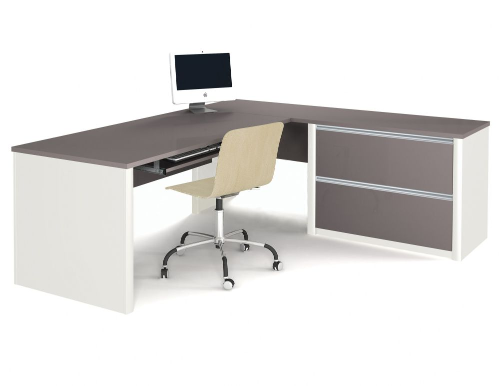 white and black computer desks design ideas