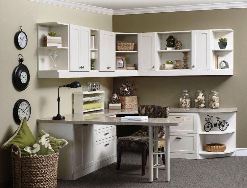 Advantages Of White Desk Hutch Furnishings white home office furniture collections