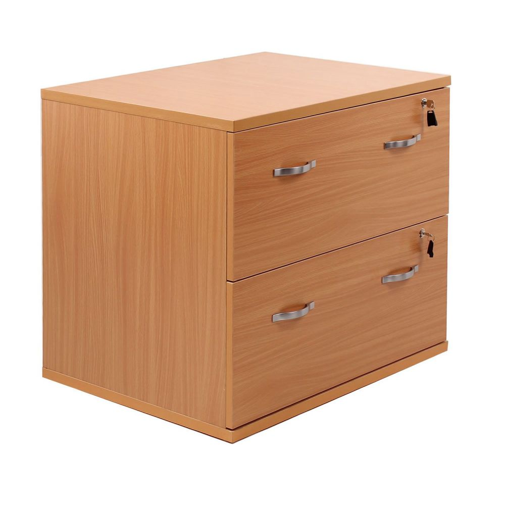 wooden 2 drawer filing cabinet for home office