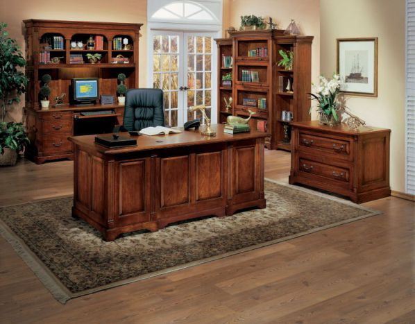 wooden traditional home office furniture