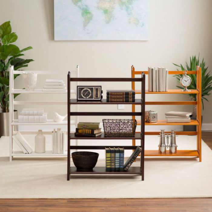 3-Tier Stackable Mission Folding Bookcase