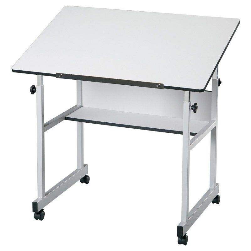Alvin MiniMaster Adjustable Drafting Table - White
