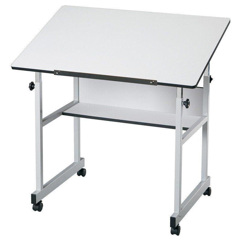 Alvin MiniMaster Adjustable Drafting Table - White