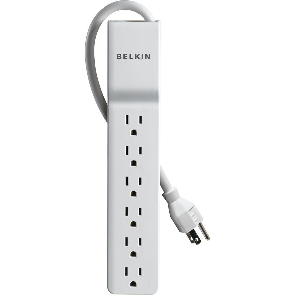 Belkin BE106000-04 6-Outlet White Home Office Surge Protector