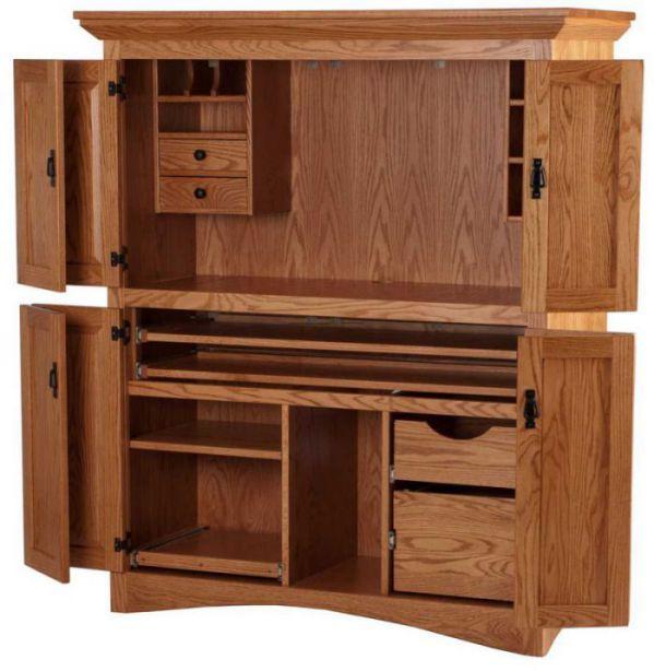 Big computer armoire plans