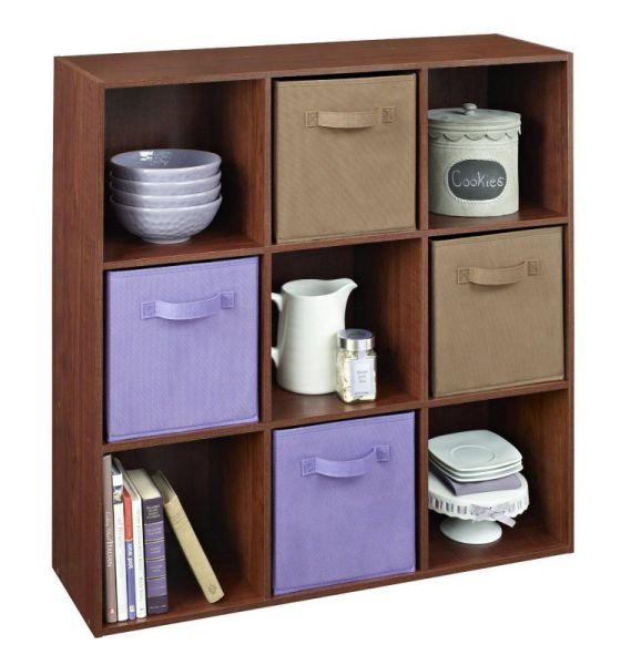 ClosetMaid 4105 Cubeicals 9-Cube Organizer, Dark Cherry