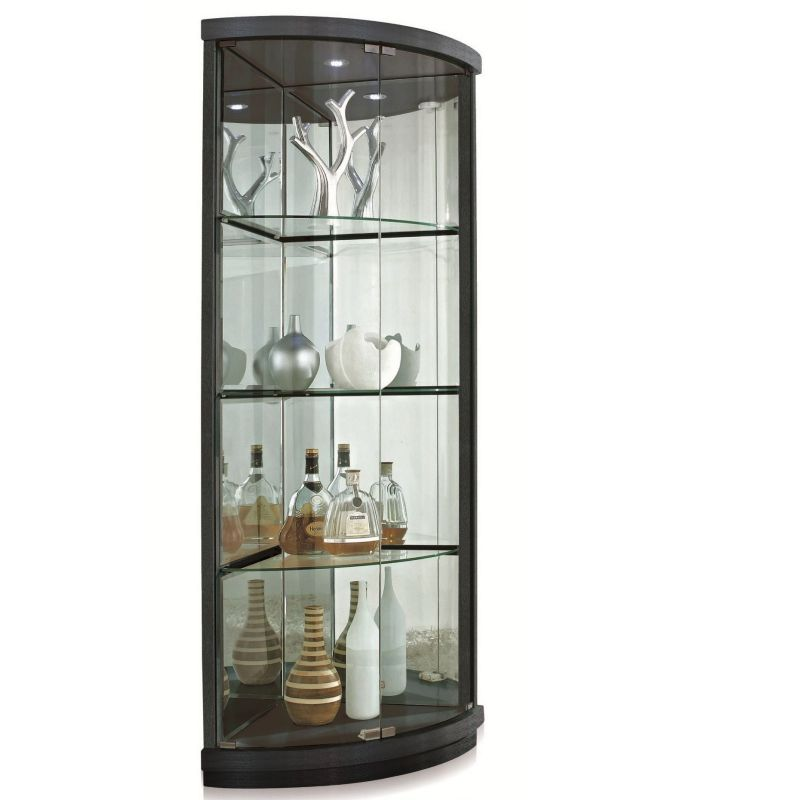 corner curio cabinet for elegant home office office. Black Bedroom Furniture Sets. Home Design Ideas