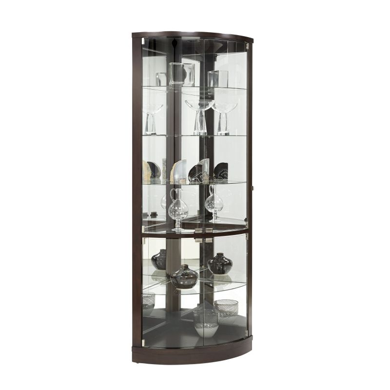 the elegant black corner curio cabinet with light. Black Bedroom Furniture Sets. Home Design Ideas