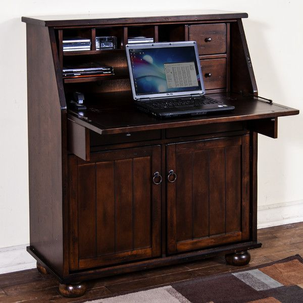 Dark Chocolate Armoire Desk by Sunny Designs