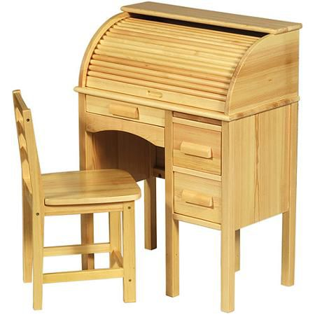 Guidecraft JR Roll-Top Desk, Honey