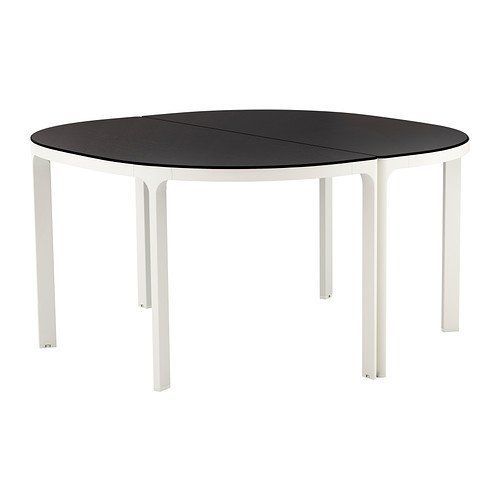 Ikea Bekant Conference Table, Black-brown, White