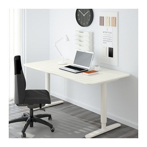 Ikea Bekant Desk Sit Stand, White