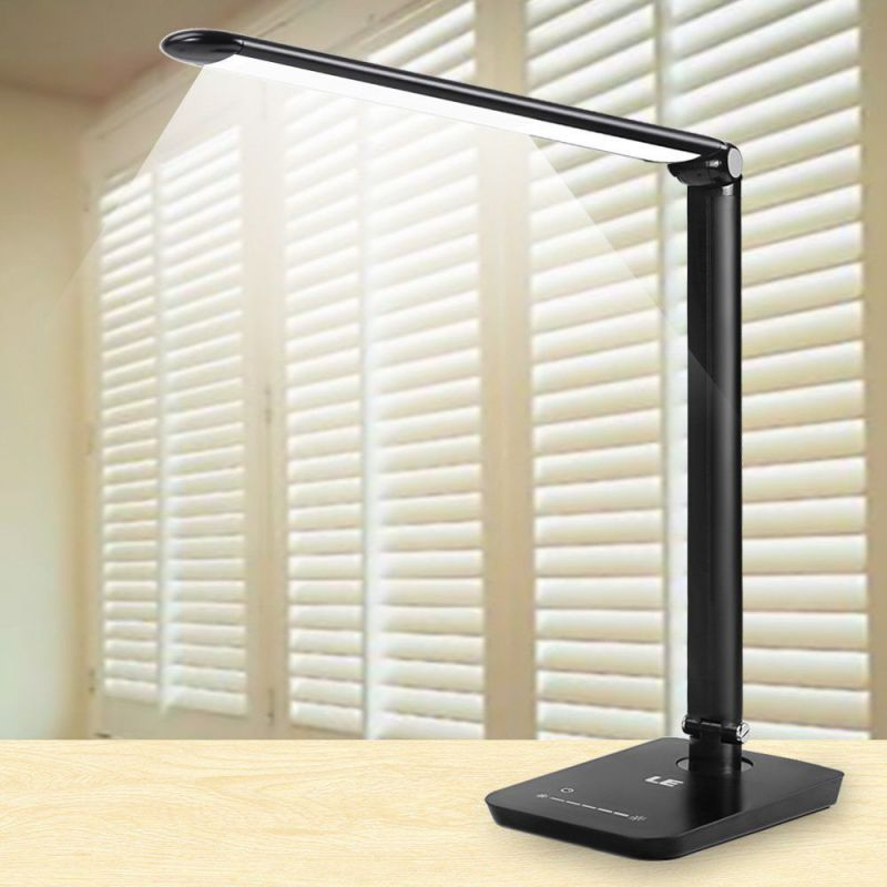 LE Dimmable LED Desk Lamp, 7 Dimming Levels, Eye-care, 8W Black