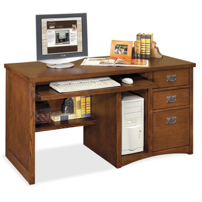 Martin Furniture Mission Pasadena Deluxe Computer Desk