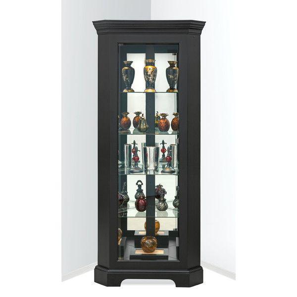 Newport II Galaxy Black Corner Cupboard Cabinet