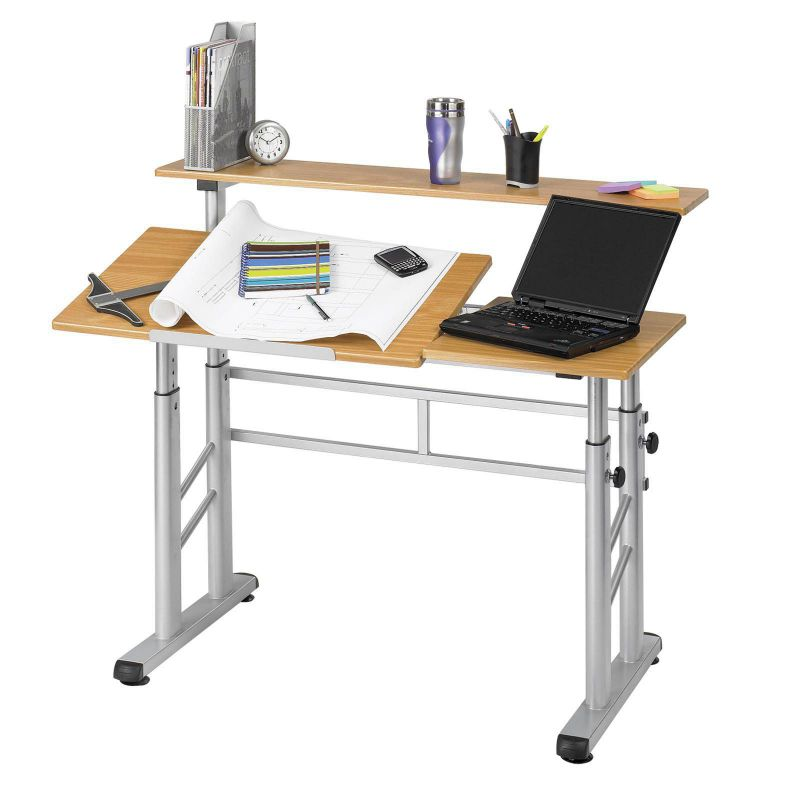 Safco Adjustable Split-Level Drafting Table