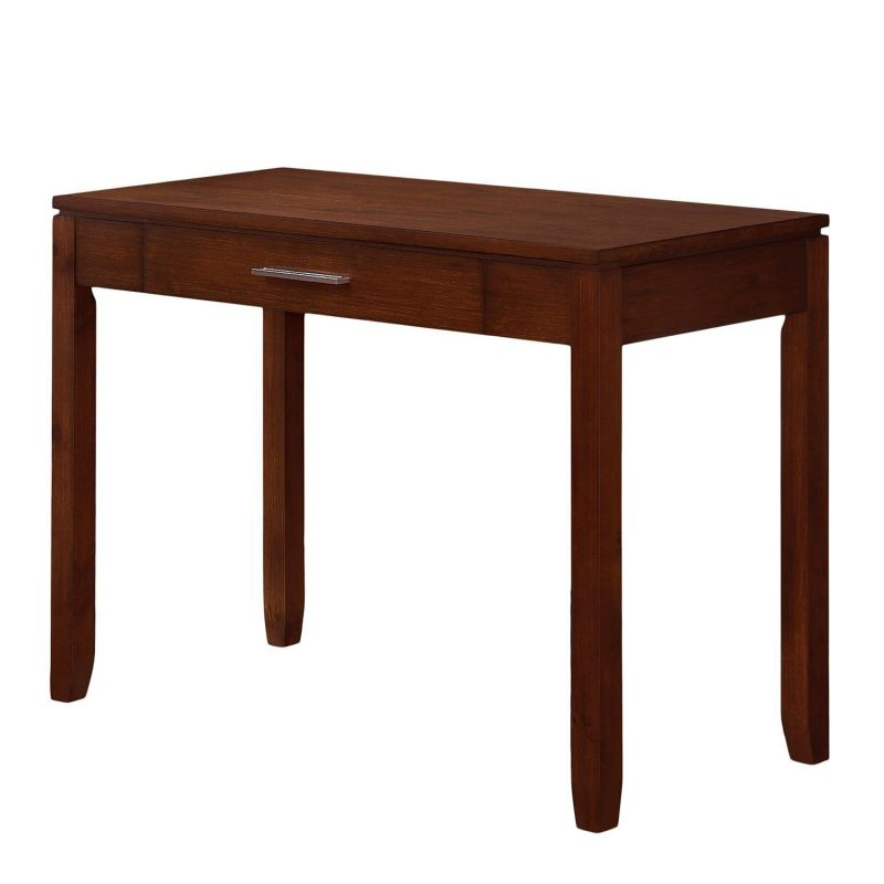 Simpli Home Cosmopolitan Office Desk, Medium Auburn Brown