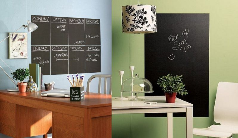 Wallies Peel and Stick Chalkboard Sheet Bundle - Set of 4 Regular Size Plus 1 Big Sheet