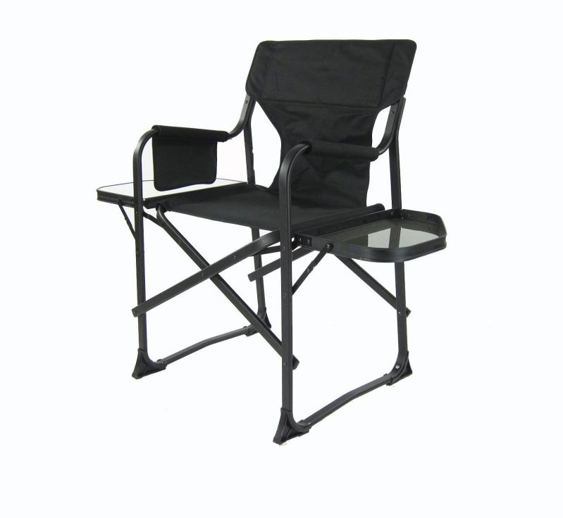 World Outdoor Products LED LIGHTED Side Table STARLITE Oversized Lightweight Portable Folding Directors Chair