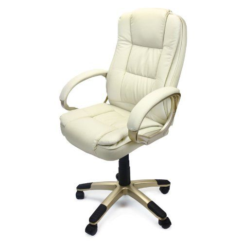 XtremepowerUS PU Leather Executive Office Desk Task Luxury Computer Chair
