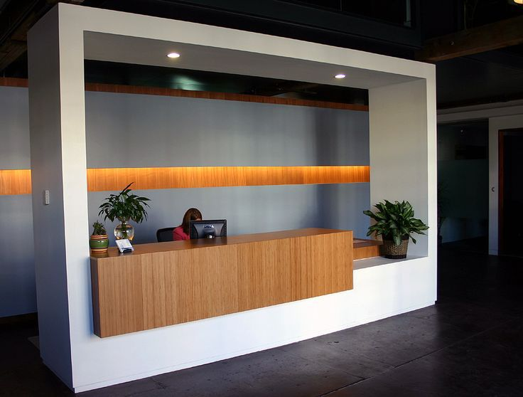 office reception desk ideas with amber grain bamboo