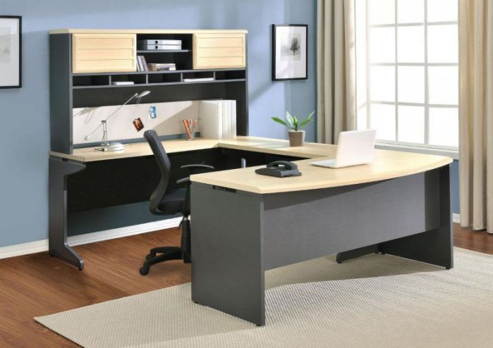 Ameriwood Industries Altra Benjamin U Shaped Desk with Hutch