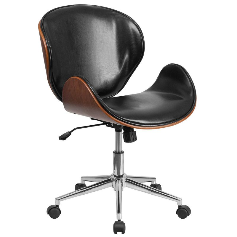 Fine Brown Leather Desk Chair By Flash Furniture Interior Design Ideas Inesswwsoteloinfo