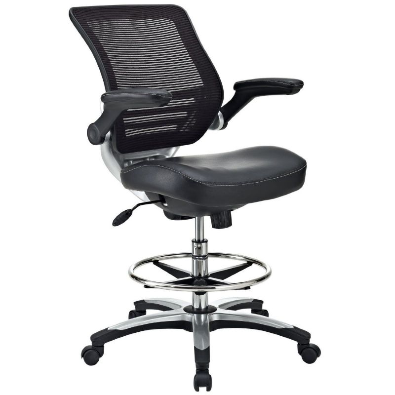 LexMod Edge Drafting Stool in Black