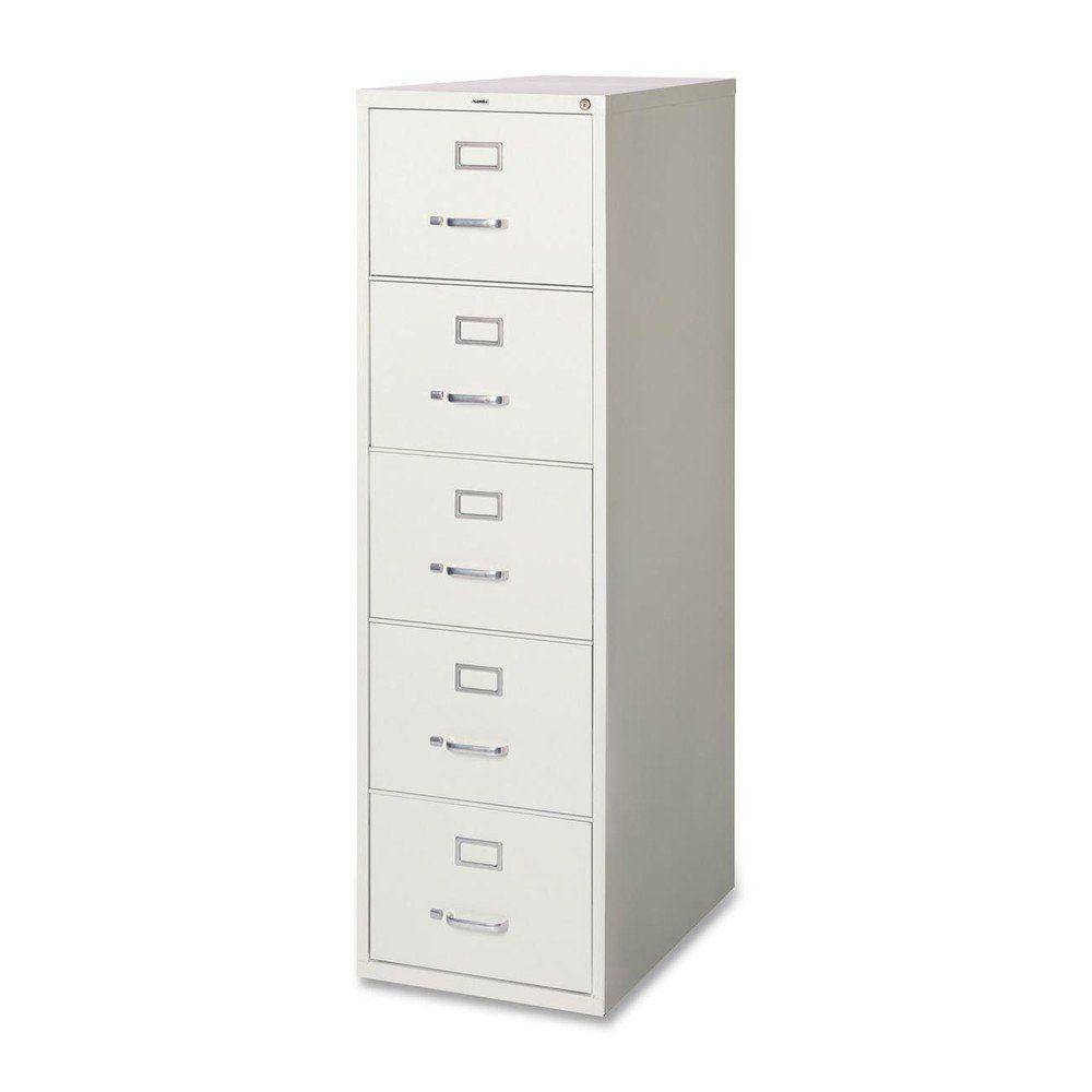 Lorell LLR48502 Commercial Grade Vertical File Cabinet, Light Gray