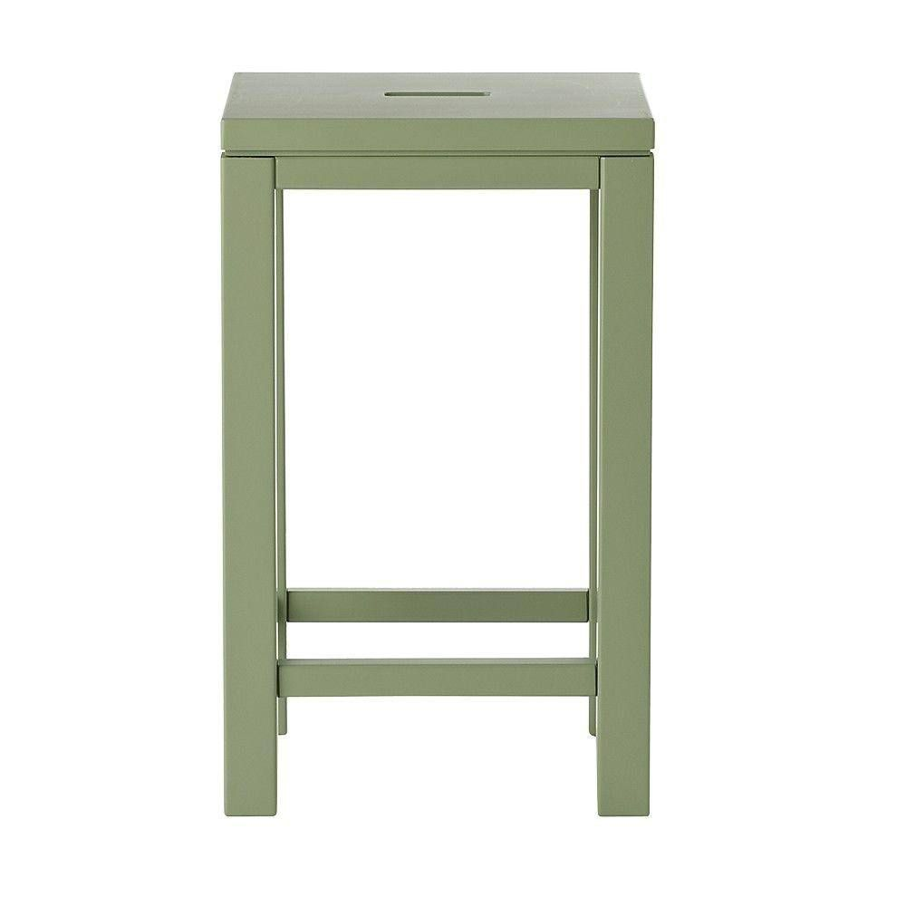 Martha Stewart Living Craft Space Wood Craft Stool in Rhododendron Leaf