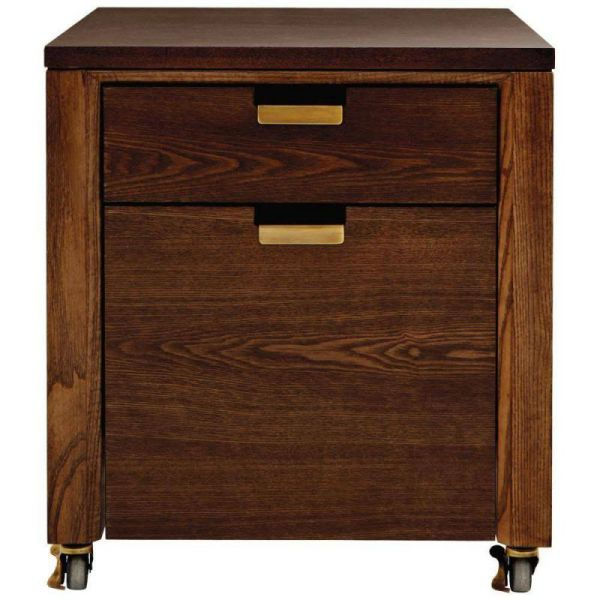Martha Stewart Living Riley 2-Drawer File Cabinet in Warm Chestnut