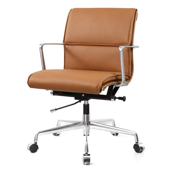 Executive brown leather office chair for comfortable sitting for Sitting chairs