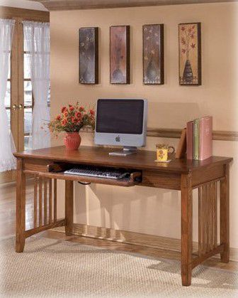 Signature Design by Ashley H319-44 Cross Island Collection Home Office Desk, Medium Brown