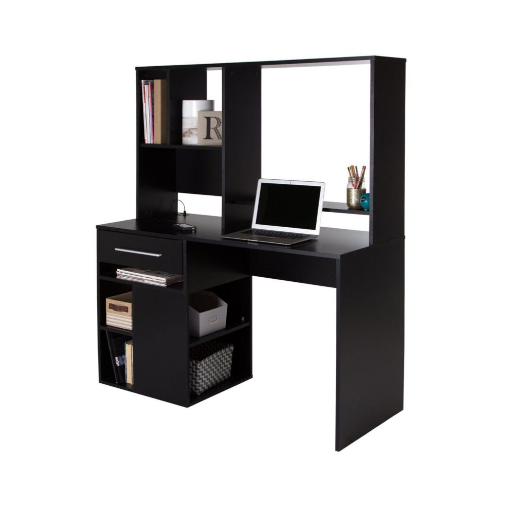 black wood computer desk shopping plans