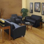 Black Leather Discount Office Furniture Collection