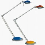 Multicolor halogen swing desk lamp 50W