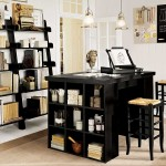 black wooden home office furniture sets