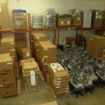 office furniture warehouse section