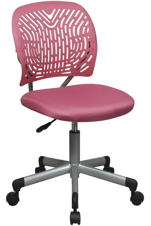 Office Star Modern Armless Kids Pink Task Chair