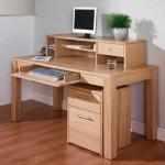 Sherwood Oak built in home office desk designs