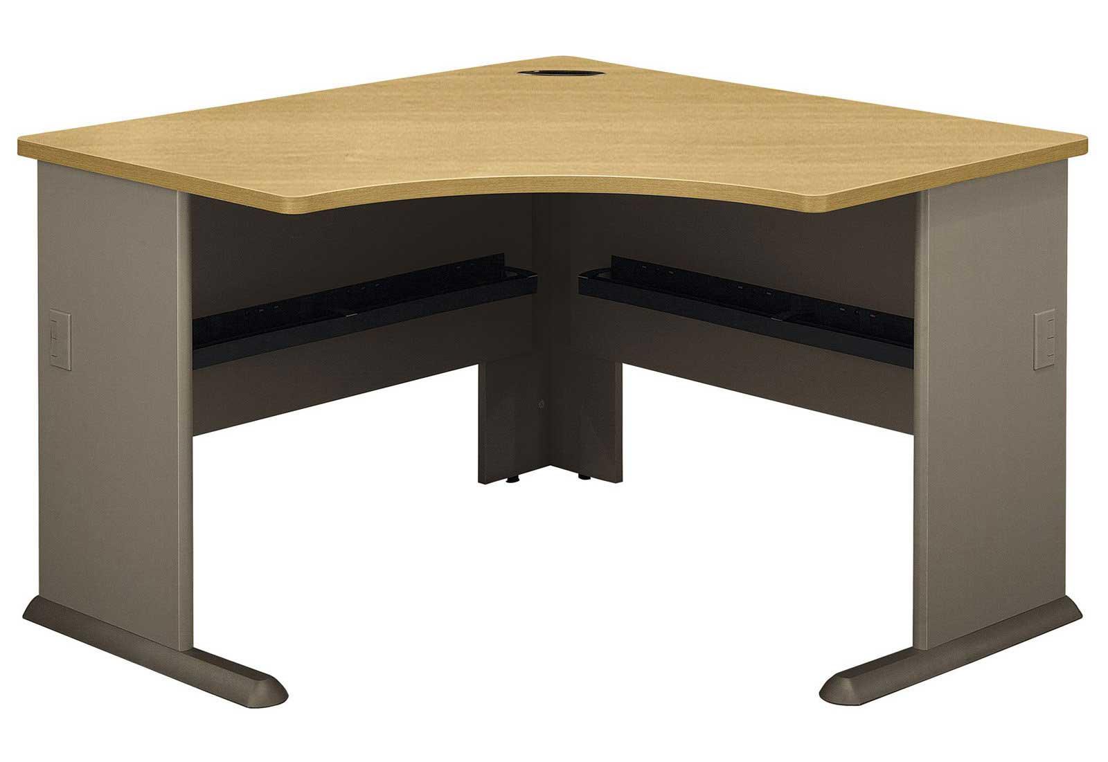 Bush A Series Sage And Light Oak Corner Desk